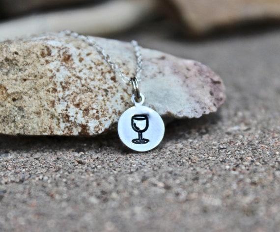 Wine Glass Charm Necklace