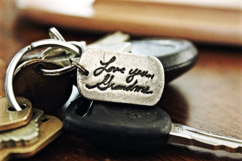 Handwriting Keychain Real Handwriting Keychain gift deep image 0