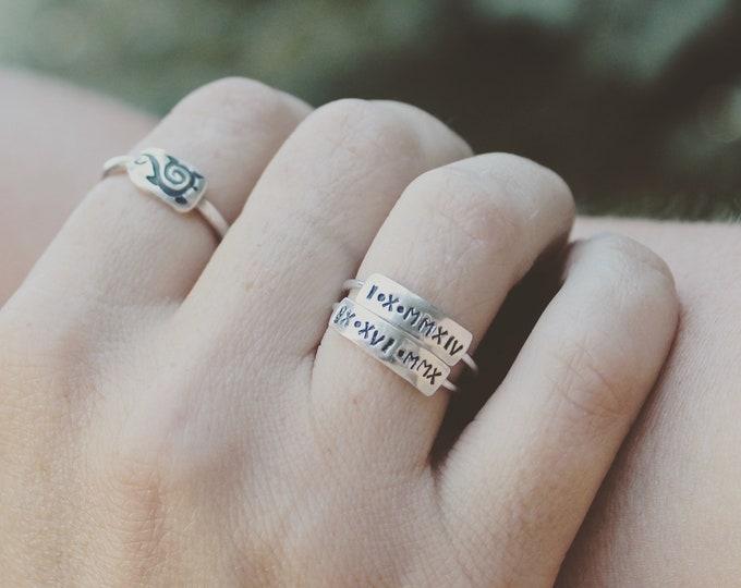 Roman numeral Ring
