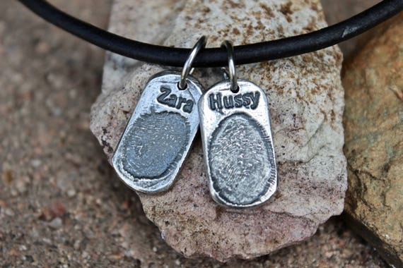 Children's Fingerprint Charm with name, Fingerprint Charm with Name, Children's fingerprint Charms, Gift for Dad, Gift for Father's Day