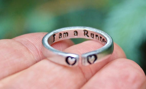 Runner Ring, Runner Ring for Runners, Gift for Runner, Runner Jewelry, Marathon Gift, Ring for Runner, Runners Ring, Runner Inspiration Ring