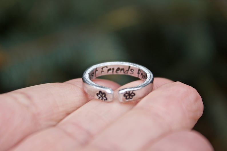 Two Rings for Best Friends or sisters Stackable and Adjustable Best Friend Rings