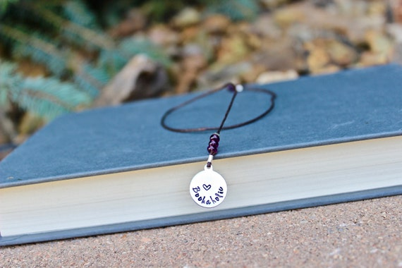 Bookaholic Bookmark, Unique Bookmark, Love Books Bookmark, Handstamped Bookmark, Leather Cord Bookmark, Custom Bookmark, Gift for Bookaholic