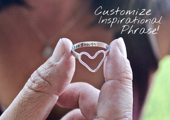 Sterling Silver Heart Ring-with Inspiration