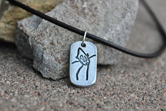 Father's Day Gift, Your Child's Drawing Charm, Kid's artwork, Dad, Child's Real Drawing Sterling Silver Charm, Leather, Father's Day Gift
