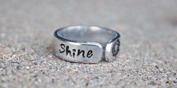Sun Boho Ring, Shine Thumb Ring, Shine Sun Index Finger Ring, Yoga Jewelry, Adjustable Ring, Shine Ring, Sun Ring, Large Boho Ring, Sun Ring