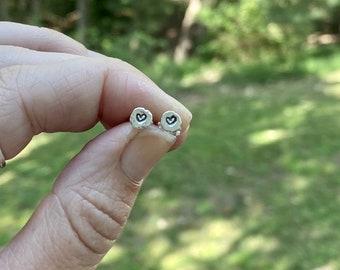 Heart Stud Earrings, Silver Heart Earrings, Small heart Stud Earrings, Hypoallergenic Solid Sterling Silver Earrings, Heart Shape Earrings