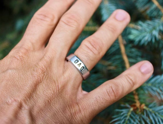 Gift for Dad, Birthday gift for Dad, Best Dad Ever, Secret message stamped inside, DAD ring, Ring for Dad, Gift for Man, Gift for Father