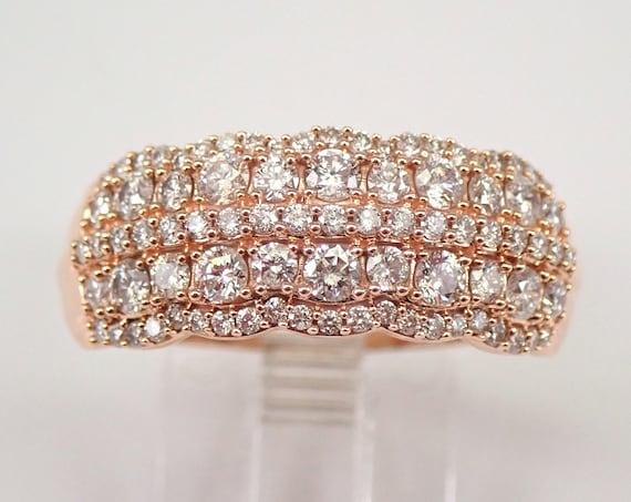 14K Rose Gold 1.00 ct Diamond Wedding Ring Anniversary Band Size 8 FREE SIZING