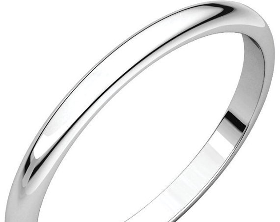Classic 14K White 2mm Band, Wedding Ring, Anniversary Band, Eternity Band, Simple Wedding Ring, Thin Wedding Band