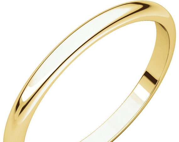 Simple 14K Yellow Gold 2mm Band, Custom Wedding Band, Satin Wedding Ring, Matte Anniversary Band, Eternity Band, Solid Gold Ring