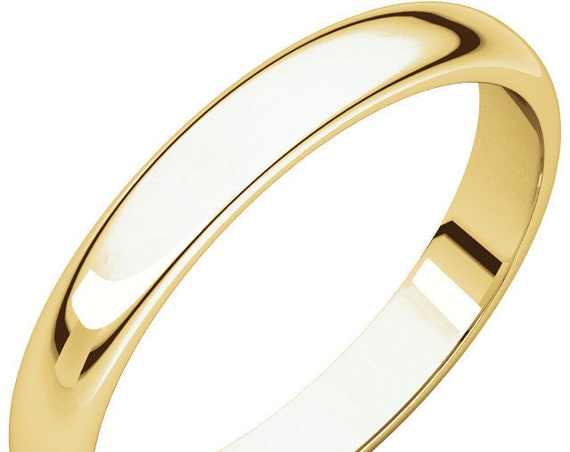 Traditional 14K Yellow Gold 3mm Band, Custom Wedding Ring, Solid Gold Ring, Matte Anniversary Band, Satin Eternity Band