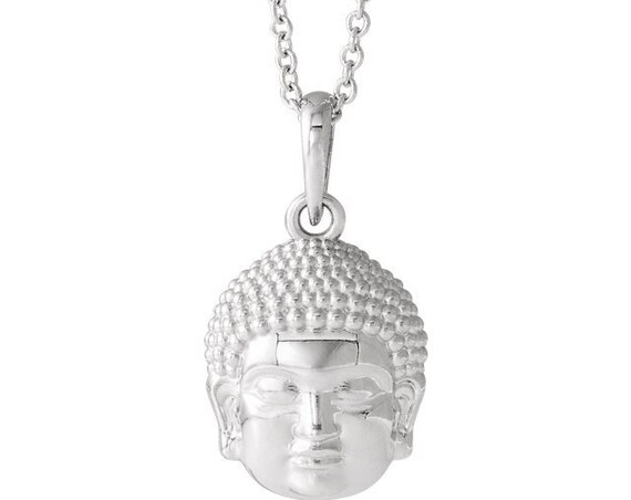 Buddha Necklace, Buddha Head Necklace, Yoga Jewelry, Buddha, Meditation Jewelry, Religious Necklace, Spiritual