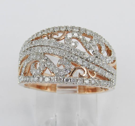 Rose Gold 1.00 ct Diamond Wedding Ring Stackable Anniversary Band Size 7