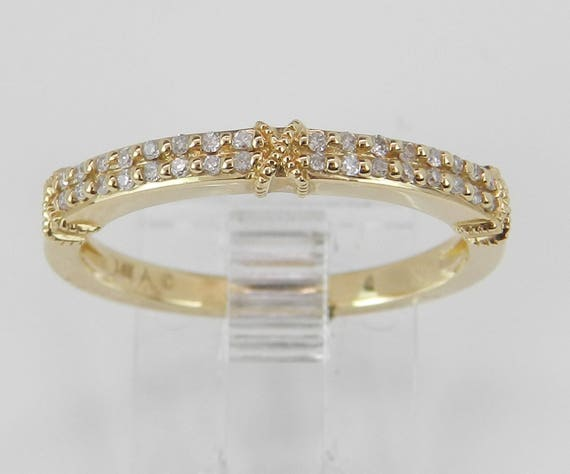 SALE PRICE! 14K Yellow Gold Diamond Wedding Ring Anniversary Band Size 7 Stackable