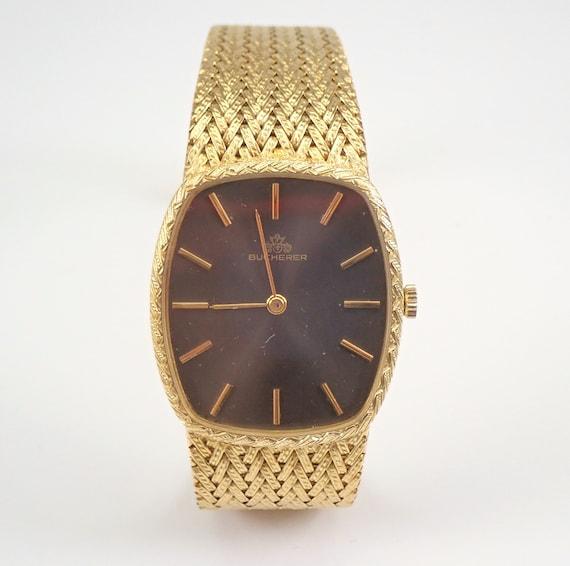 Bucherer 18K Yellow Gold Unisex Mens Watch Mechanical Movement 65.8 grams