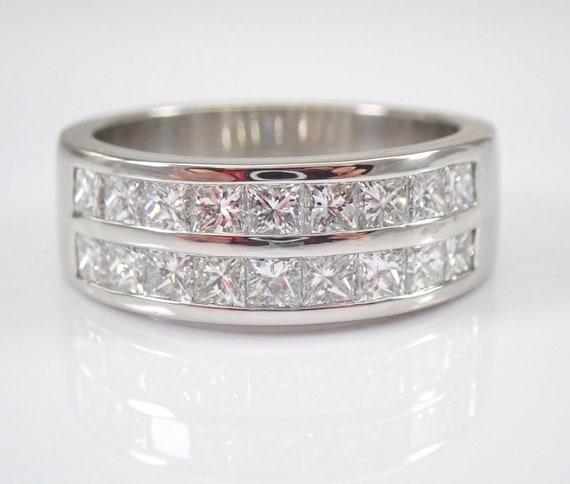 Platinum 1.50 ct Princess Cut Diamond Anniversary Ring Wedding Band Size 7 G VS FREE Sizing