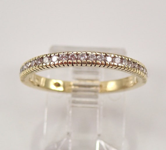 Vintage 18K Yellow Gold Diamond Wedding Ring Anniversary Band Size 6.5