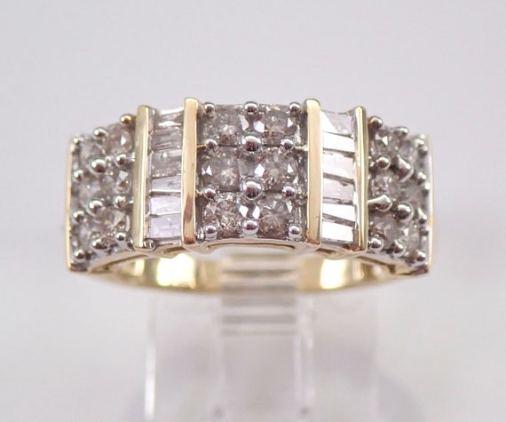 1.00 ct Diamond Wedding Ring Anniversary Band Yellow Gold Stackable Size 7.25 FREE SIZING