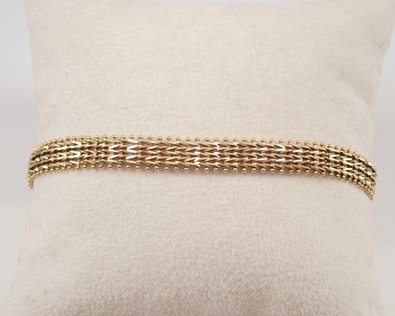 """Vintage Estate 14K Yellow Gold Mesh Link Bracelet 7.5"""""""