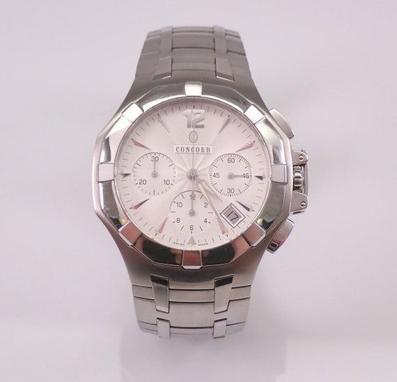 Concord Saratoga Automatic Chronograph Stainless Steel Watch 14.H7.1892