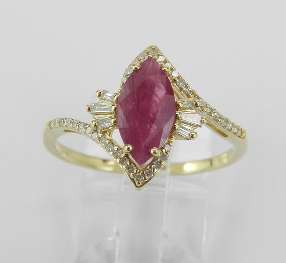 Ruby engagement ring, Diamond ring, Ruby ring gold, Promise Ring, Engagement Ring, Size 8, July Birthstone Ring