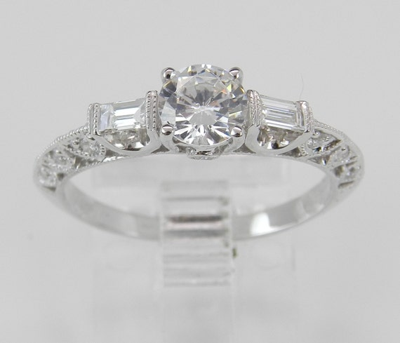 18K White Gold Engagement Ring Setting Mounting Diamond Bridal Jewelry 18K White Gold