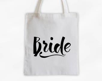 Bride Cotton Canvas Tote Bag - Custom Wedding Party Gift, Bridal Wedding Day Kit Bag, Wedding Planning Tote (3001)
