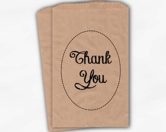 Thank You Candy Treat Bags - Custom Kraft Favor Bags for Wedding, Birthday, Shower - Paper Bags (0001)
