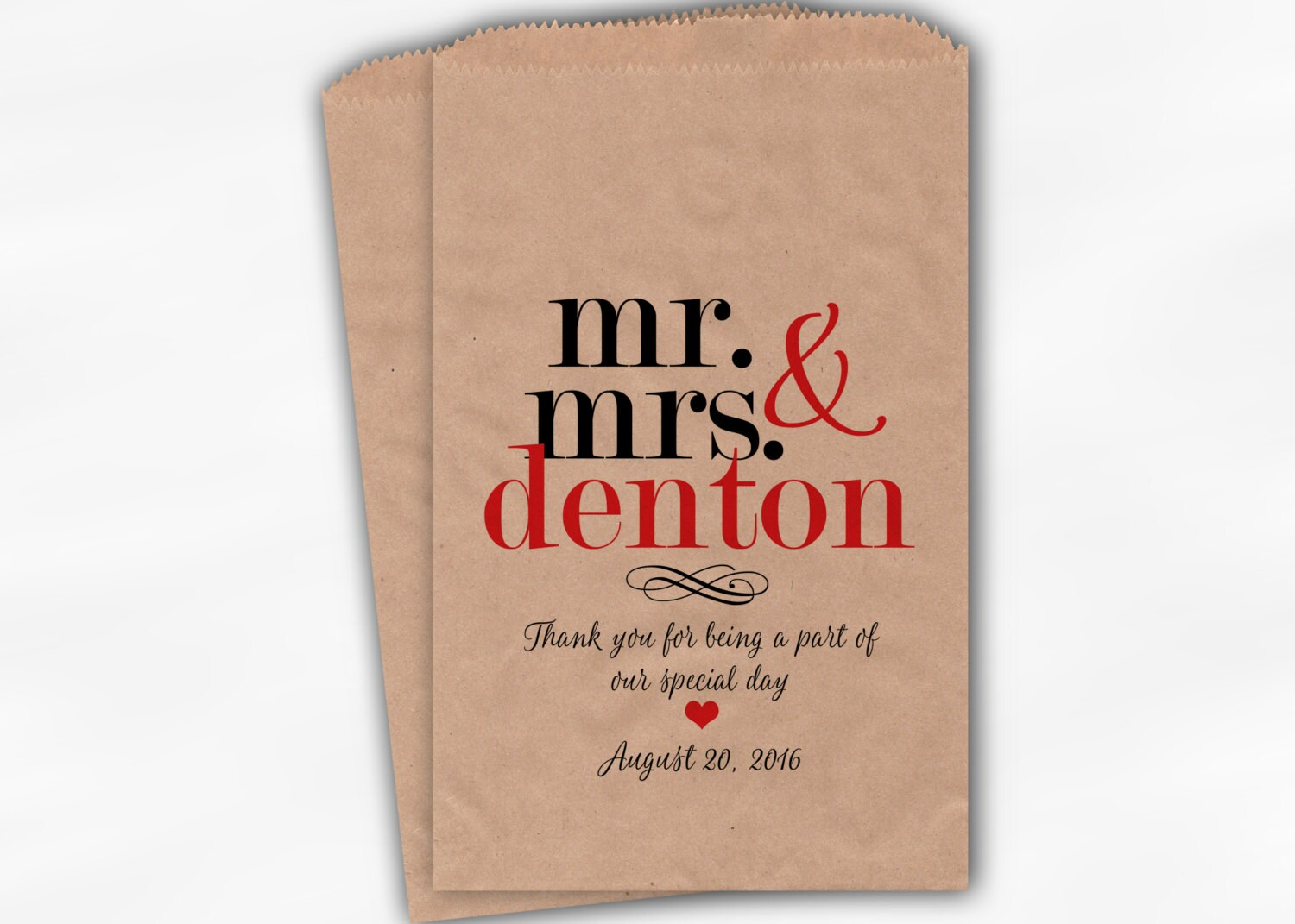 Prime Mr Mrs Candy Buffet Bags Personalized Last Name Download Free Architecture Designs Jebrpmadebymaigaardcom