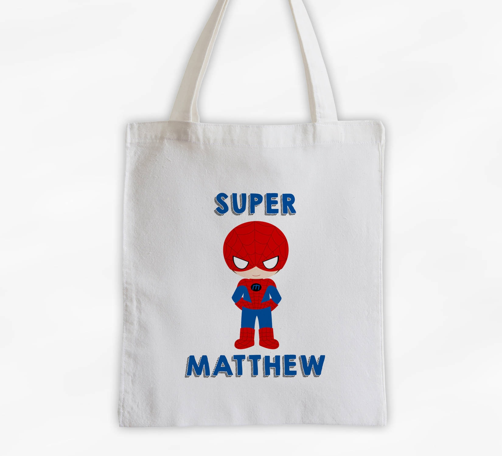Superhero Canvas Tote Bag - Spider Kid Personalized Comic Book ... f5cdf661f747e