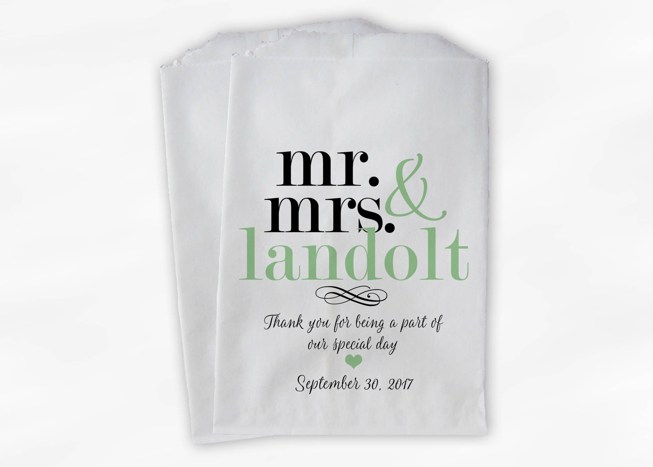 Incredible Mr Mrs Candy Buffet Bags Personalized Last Name Download Free Architecture Designs Intelgarnamadebymaigaardcom