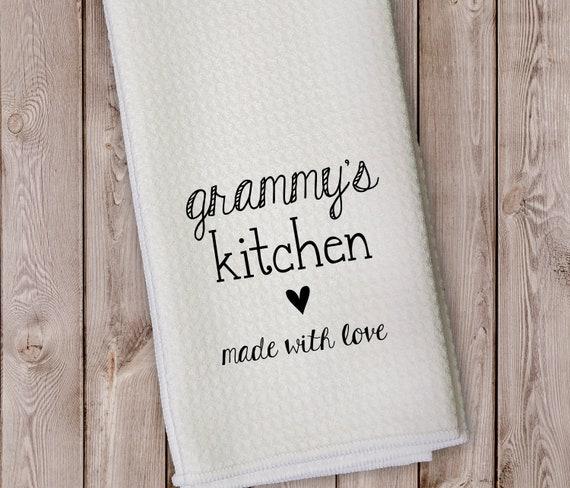 "Details about  /Personalize Kitchen Flour Sack Towel /""Grandpa/'s//GrandDad/'s//Opa/'s Kitchen/"""