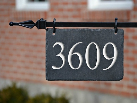 Hanging House Numbers Mailbox Lamppost, Lamp Post Address Sign