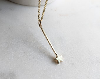 Fairy Godmother Wand Gold Necklace / Fairy Godmother / Cinderella / Magic Wand Jewelry / Godmother Gift