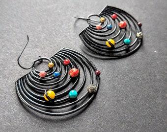 Solar System Orbit Earrings / Planets Jewelry /Galaxy Earrings / Outer Space Jewelry