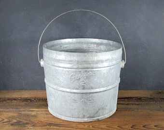 Old Metal Bucket Etsy