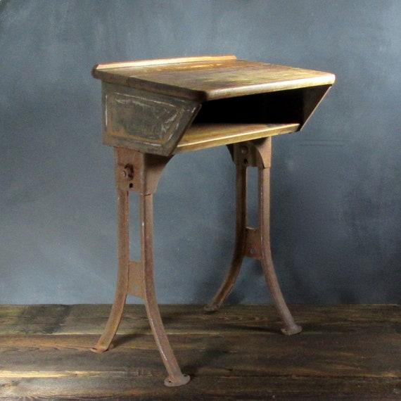 - Vintage School Desk School Elementary School Desk Small