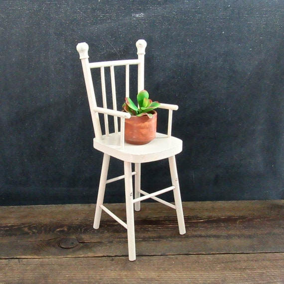 Vintage Doll Chair Wooden Doll High Chair Doll Furniture Etsy