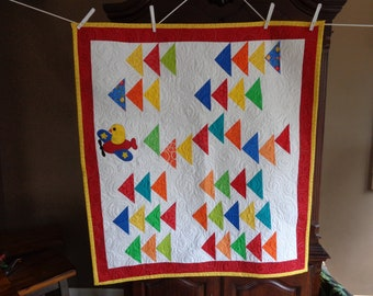 Flying Geese Baby Quilt, Come Fly With Me 0523-02