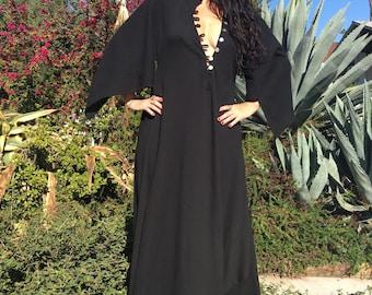 Gauze Cotton Dress// Cotton Caftan// Gauzy Summer Dress// Angel Sleeves Kaftan// Handmade Kaftan