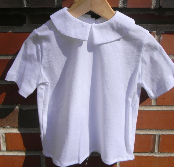 2850c47d Peter Pan Collar Boys SHORT Sleeved KNIT Shirt Sizes 3   Etsy
