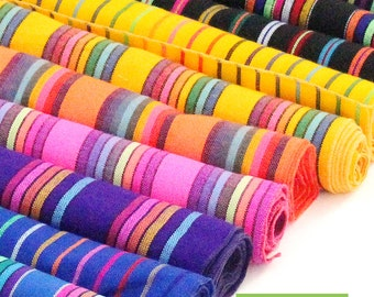 Bohemian Chic Table Runner   Boho Rainbow Runners   Sarape Colorful Striped Table  Runner   Mexican