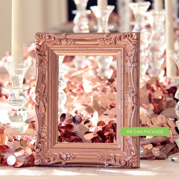 Rose Gold Picture Frame Vintage Shabby Chic Photo 5 X Etsy