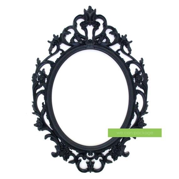 Cuadro barroco negro ovalado adornado marco bodas y Foto | Etsy