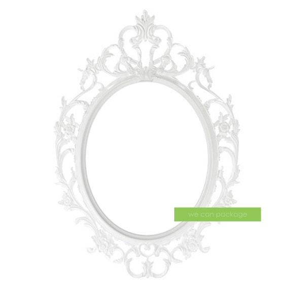 Cuadro antiguo blanco barroco ovalado ornamentado Vintage | Etsy