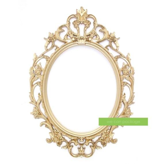 ORO marco Oval recargado barroco marco y Foto Cabina señales y | Etsy