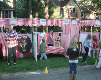 Carnival Booth PVC Frame PLANS - DIY Carnival Booths - Customizable Fair booths - Please read listing details!