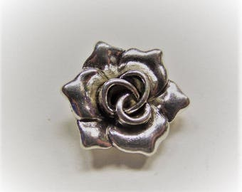 Y9 7mm thick 18mm * 16.5mm 5CT hole: 2mm Antique Silver Color Alloy Flower Pendants 2 18mm