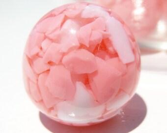 22mm, 8CT, Light Pink Confetti Candied Bubblegum Beads, h48